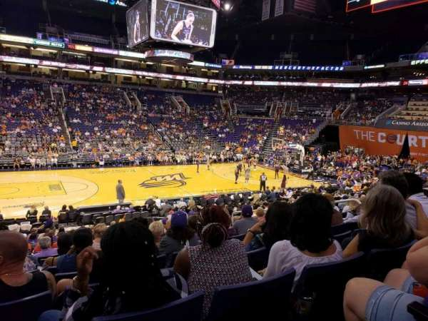 Talking Stick Resort Arena, sección: 103, fila: 19, asiento: 10