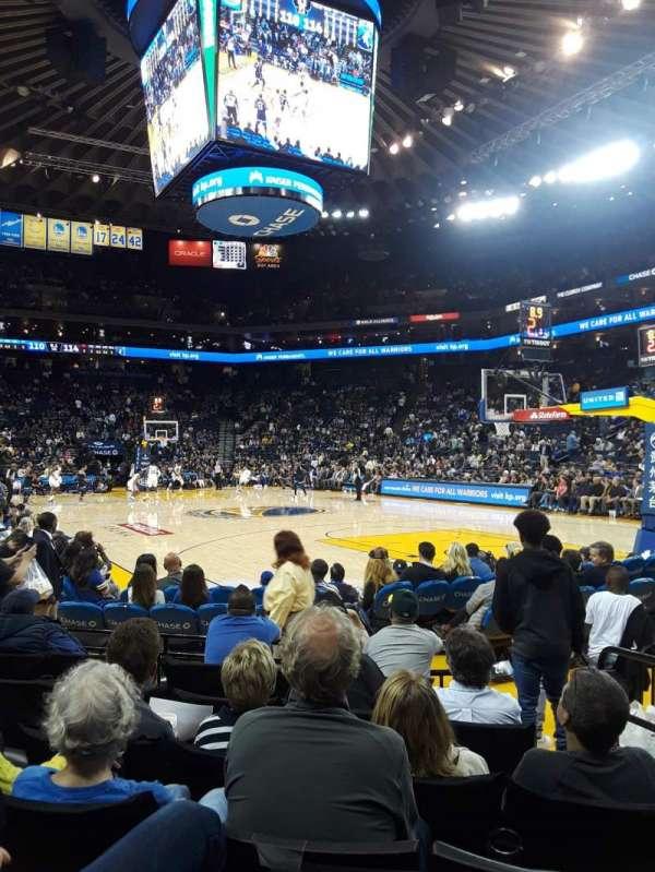 Oracle Arena, sección: 110, fila: 1, asiento: 3