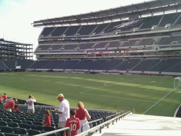 Lincoln Financial Field, sección: 125, fila: 20, asiento: 23