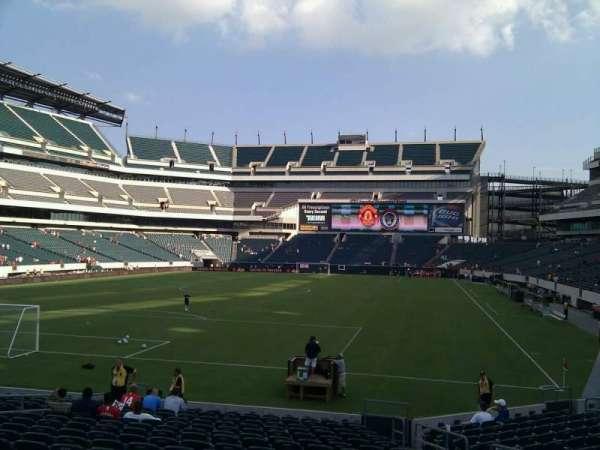 Lincoln Financial Field, sección: 131, fila: 17, asiento: 7
