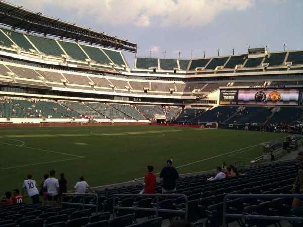 Lincoln Financial Field, sección: 134, fila: 15, asiento: 7