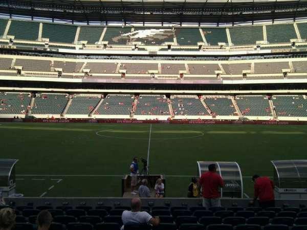 Lincoln Financial Field, sección: 101, fila: 11, asiento: 12