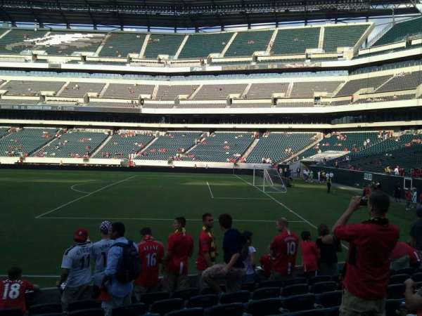 Lincoln Financial Field, sección: 105, fila: 9, asiento: 21