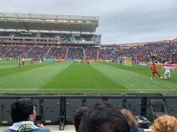 SeatGeek Stadium, sección: 103, fila: 3, asiento: 2