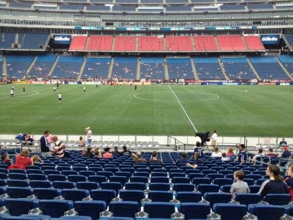 Gillette Stadium, sección: 132, fila: 20, asiento: 8