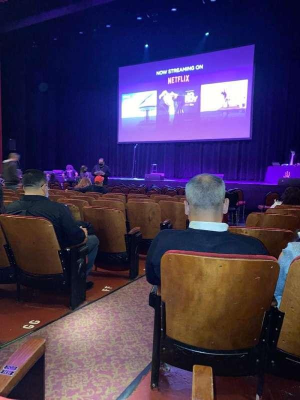 Chicago Theatre, sección: MNFL3R, fila: JJ, asiento: 302