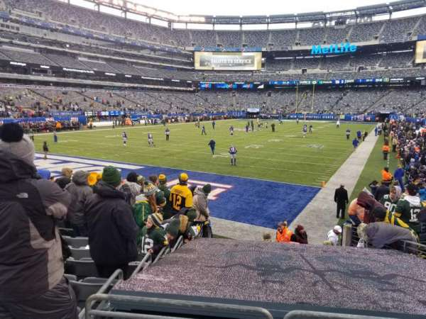 MetLife Stadium, sección: 123, fila: 12, asiento: 7