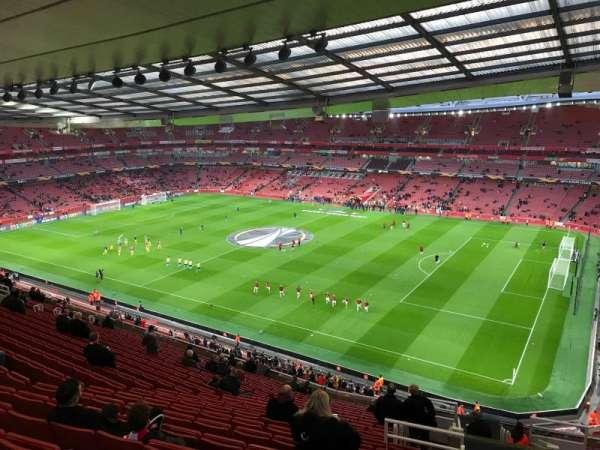 Emirates Stadium, sección: 109, fila: 20, asiento: 509