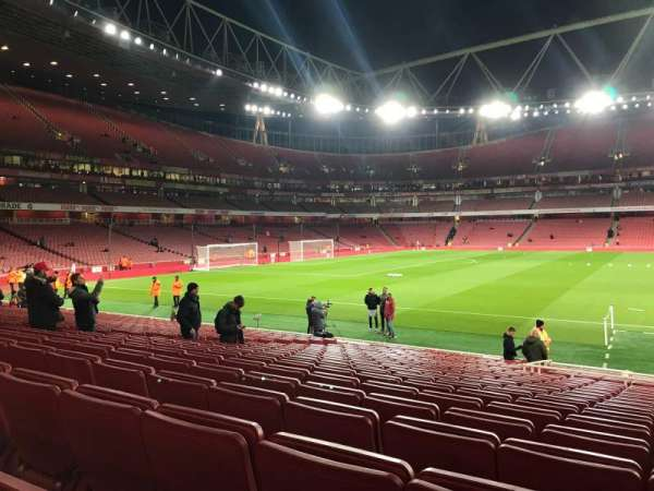 Emirates Stadium, sección: 1, fila: 19, asiento: 29