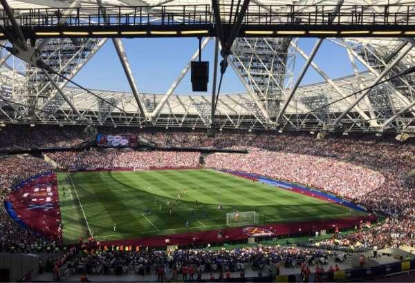 London Stadium, sección: 219, fila: 61, asiento: 96
