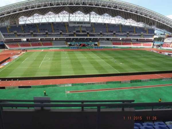 Estadio Nacional de Costa Rica, sección: Sombra Este E-23, fila: H, asiento: 16
