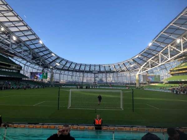 Aviva Stadium, sección: 115, fila: N, asiento: 24