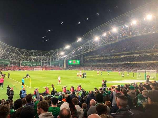 Aviva Stadium, sección: 117, fila: N, asiento: 21