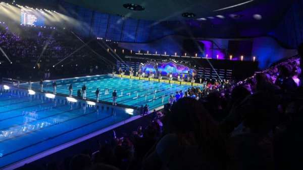 London Aquatics Centre, sección: F, fila: 8, asiento: 163