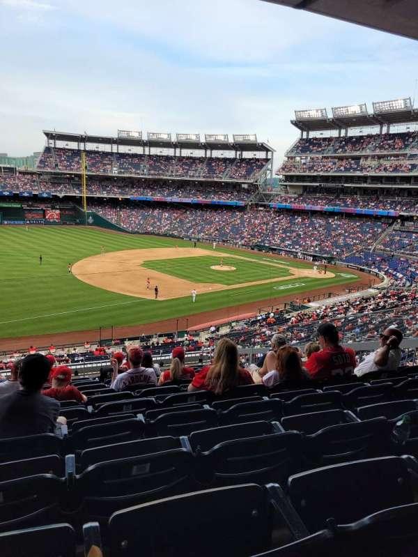 Nationals Park, sección: 205, fila: L, asiento: 9