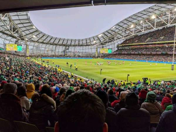 Aviva Stadium, sección: 119, fila: CC, asiento: 18