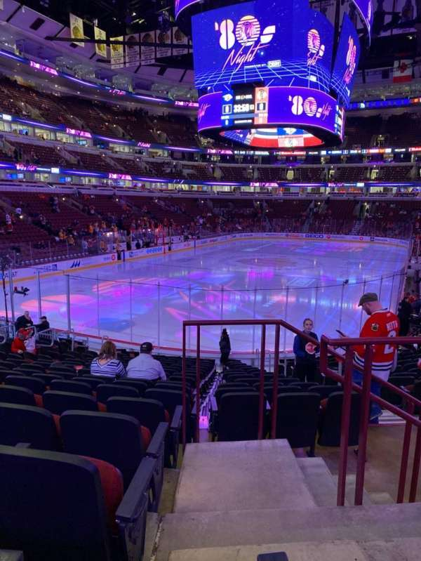 United Center, sección: 116, fila: 17, asiento: 2