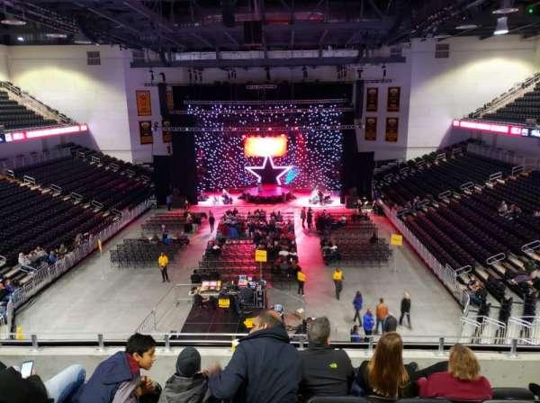 UMBC Event Center, sección: 200, fila: E, asiento: 10