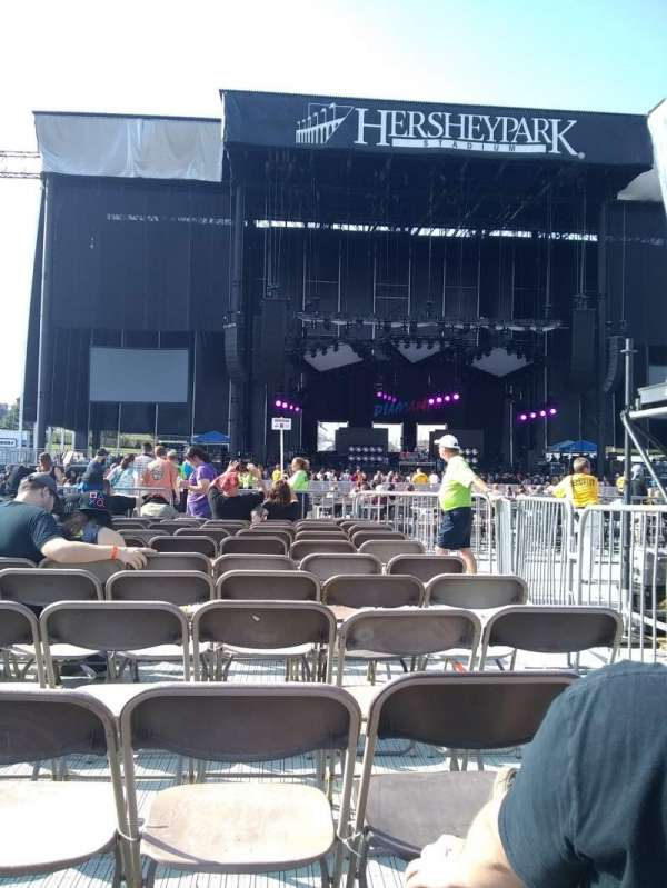 Hershey Park Stadium, sección: E, fila: 11, asiento: 3