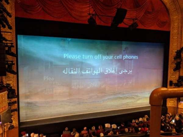 Ethel Barrymore Theatre, sección: Front Mezzanine L, fila: A, asiento: 1
