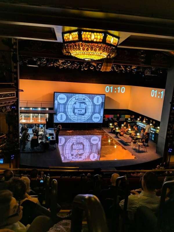 Belasco Theatre, sección: Mezzanine L, fila: f, asiento: 1