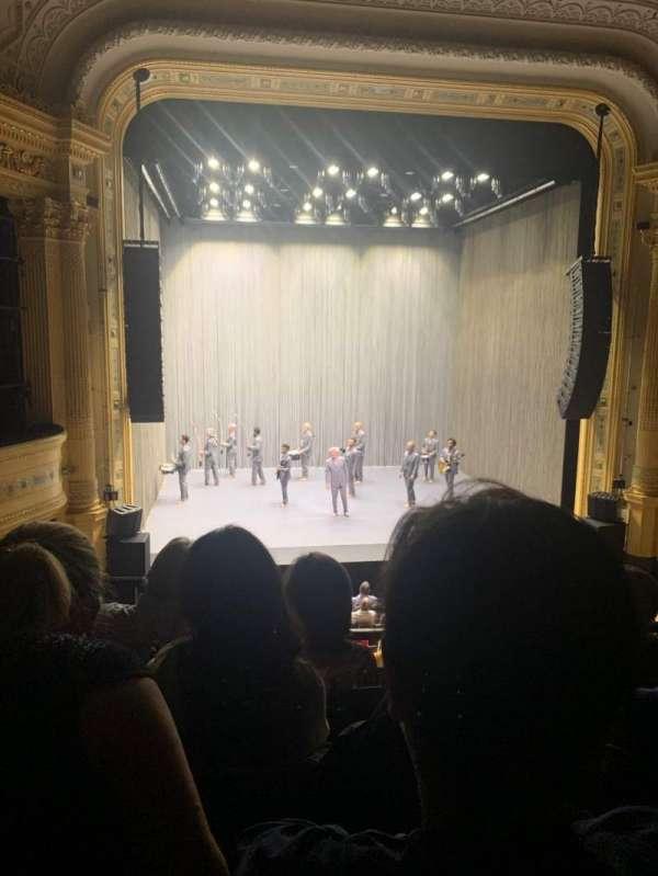 Hudson Theatre, sección: Dress Circle C, fila: D, asiento: 103