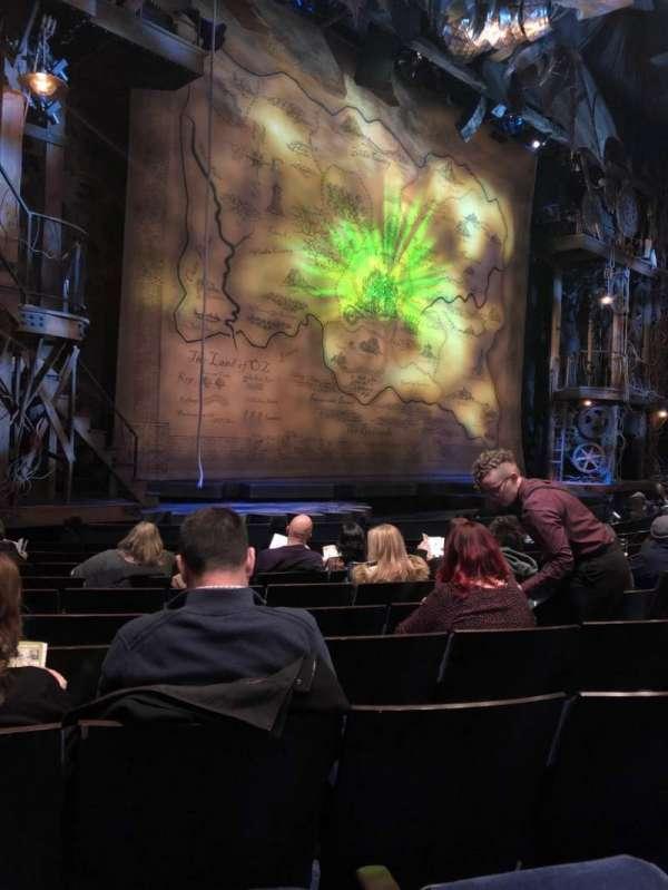 Gershwin Theatre, sección: Orchestra L, fila: F, asiento: 17