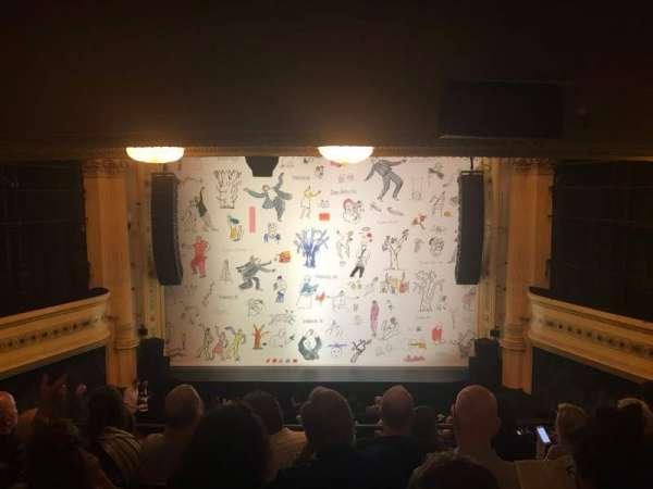 Hudson Theatre, sección: Dress Circle, fila: G, asiento: 109