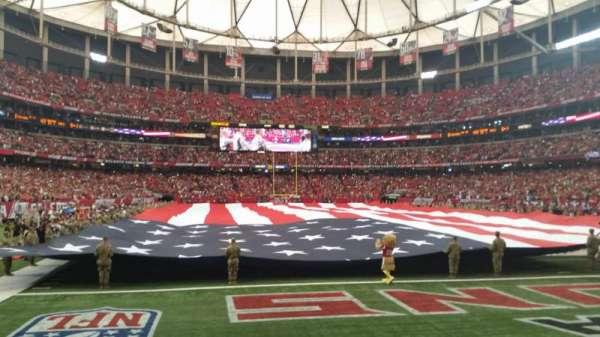 Georgia Dome, sección: 127, fila: 1, asiento: 2