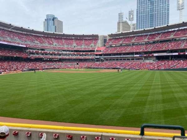 Great American Ball Park, sección: 144, fila: F, asiento: 1,2