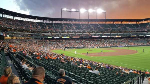 Oriole Park at Camden Yards, sección: 8, fila: 28, asiento: 28