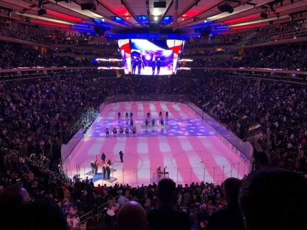 Madison Square Garden, sección: 417, fila: 4, asiento: 20