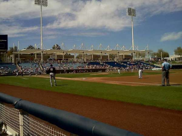 Maryvale Baseball Park, sección: 113, fila: A, asiento: 3