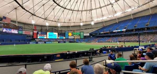 Tropicana Field, sección: 131, fila: K, asiento: 8