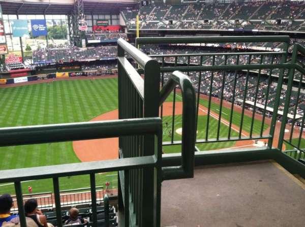 Miller Park, sección: 431, fila: 8, asiento: 1