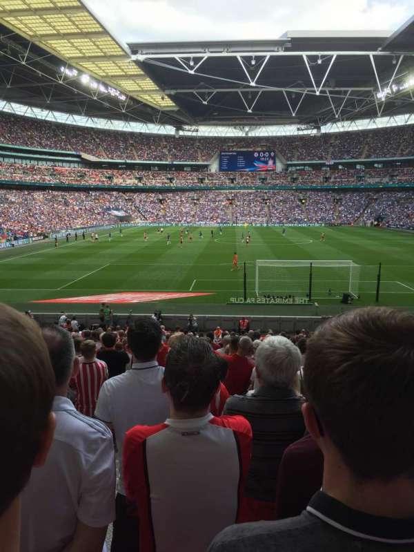 Wembley Stadium, sección: Block 134, fila: 27, asiento: 12