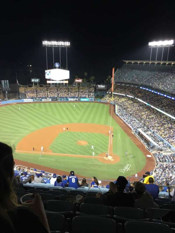 Dodger Stadium, sección: 11TD, fila: O, asiento: 6