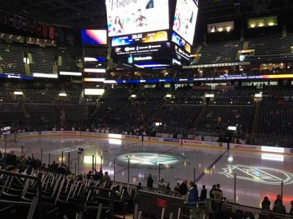 Nationwide Arena, sección: 113, fila: U, asiento: 16