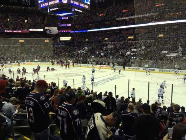 Nationwide Arena, sección: 112, fila: Q, asiento: 14
