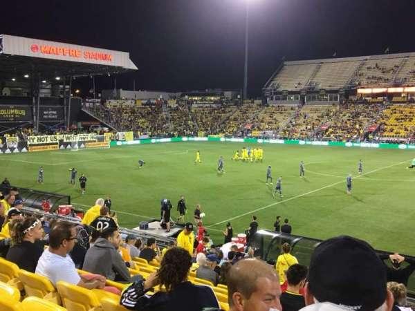 Mapfre Stadium, sección: 126, fila: 22, asiento: 1