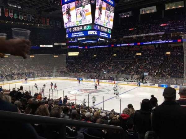 Nationwide Arena, sección: 112, fila: W, asiento: 26