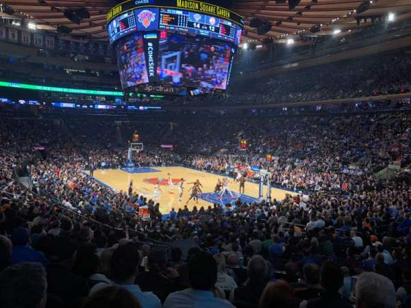 Madison Square Garden, sección: 110, fila: 13, asiento: 19