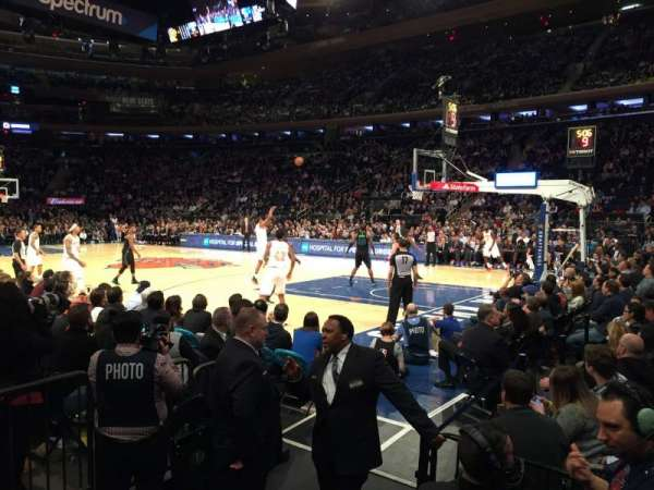 Madison Square Garden, sección: 119, fila: 1