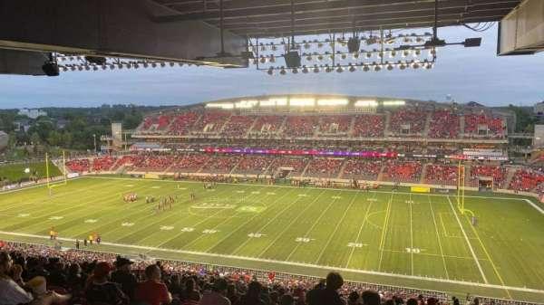 TD Place Stadium, sección: CC, fila: 23, asiento: 11