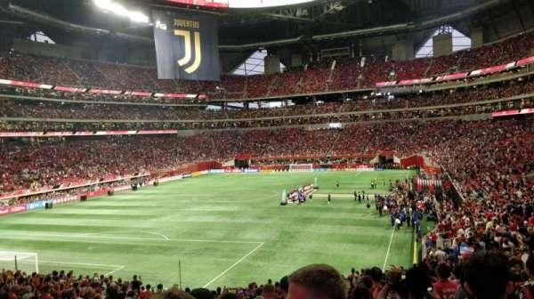 Mercedes-Benz Stadium, sección: 134, fila: 33, asiento: 38