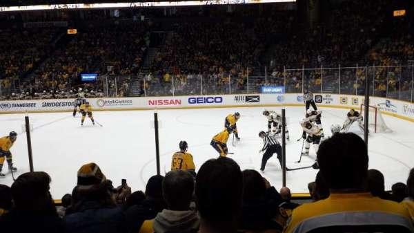 Bridgestone Arena, sección: 107, fila: 5, asiento: 8