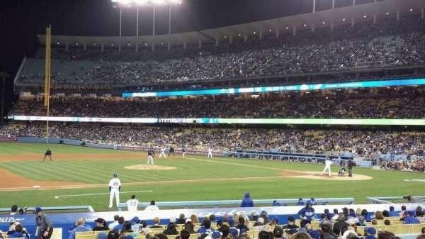 Dodger Stadium, sección: 25FD, fila: O, asiento: 1