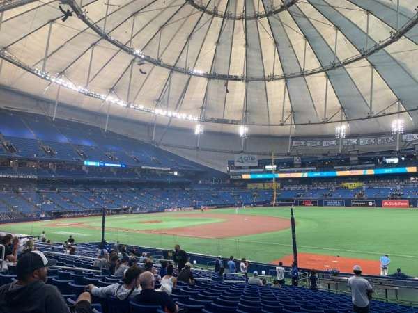 Tropicana Field, sección: 128, fila: BB, asiento: 16