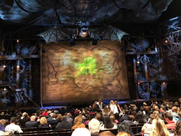 Gershwin Theatre, sección: Orchestra C, fila: N, asiento: 107