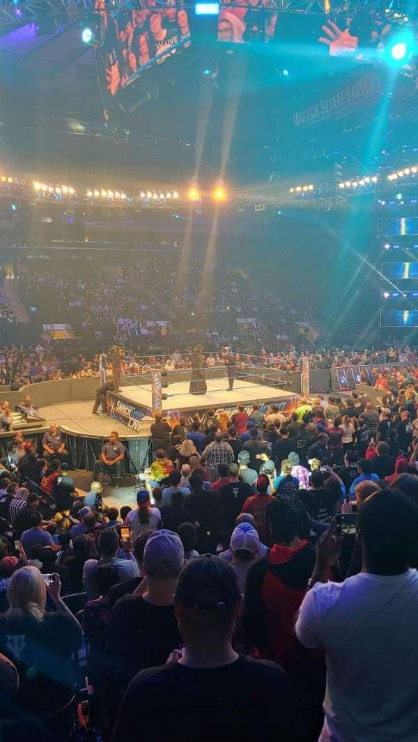 Madison Square Garden, sección: 106, fila: 7, asiento: 8